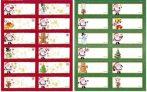 Karácsonyi matricás ajándékkísérők, 12 matrica / 1 ív, 21,5x16 cm, Kidea
