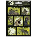 Dinoszaurusz matrica 11x16cm, többféle