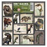 Dinoszaurusz matrica 16x16cm, többféle