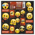 Smiley, emoji matrica 16x16cm, többféle