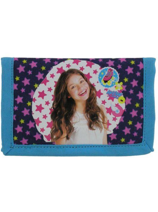 Soy Luna pénztárca, 13x8 cm, SL11, csillagos
