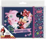 Minnie napló gumis pánttal 14x19 cm, többféle