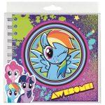 My Little Pony spirál napló 16x16 cm, többféle