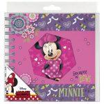 Minnie spirál napló 16x16cm, többféle mintával
