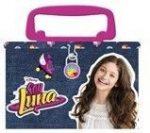 Soy Luna persely, fémdoboz fogantyúval, lakattal