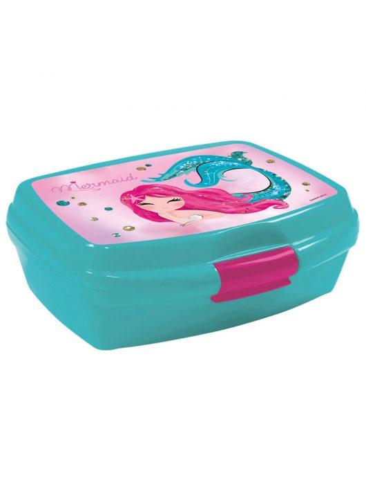 Mermaid - Hableány uzsonnás doboz, SY11, rózsaszín