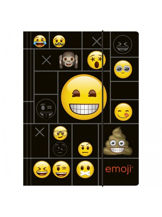 Smiley, emoji gumis mappa A/4,
