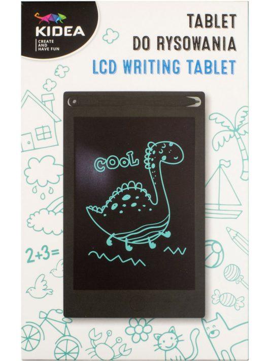 LCD rajztábla gyerekeknek, 13x21cm, 11x16 cm-es kijelzővel, fekete, Kidea