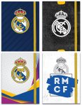 Real Madrid napló gumis pánttal, 10x13cm 96lapos,