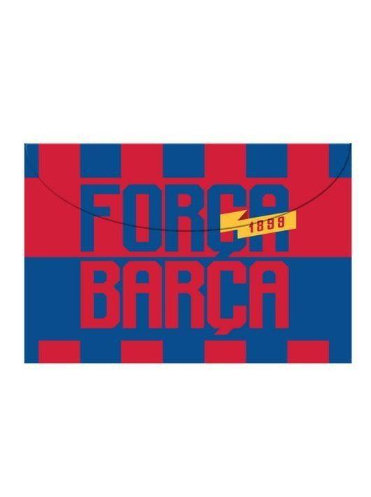 FC Barcelona irattartó tasak A/4, patentos, műanyag