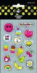 Smiley, emoji matrica, 8x12cm, 5 lap/csomag