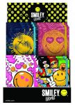 Smiley, emoji napló gumis pánttal, 10x13cm, 4 féle minta
