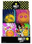 Smiley, emoji napló gumis pánttal, 13x10 cm, 4 féle minta