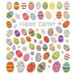 Matrica, húsvéti, tojások,15x17cm