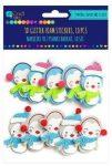 Dekorgumi, öntapadós, karácsonyi 3D formák, pingvinek, 10 db/csomag