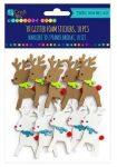 Dekorgumi, öntapadós, karácsonyi 3D formák, rénszarvasok, 10 db/csomag