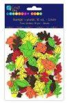 Dekorgumi, öntapadós, őszi levelek, 90 db-os
