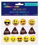 Dekorgumi, öntapadós, Emoji, Smiley, 24 db-os