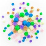 Pom-pom, pasztell színek, 78db/cs