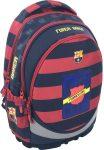 FC Barcelona ergonómikus hátizsák, iskolatáska 46x34x18cm, kék-piros csíkos
