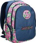 Smiley, emoji afro hátizsák, iskolatáska 44x30x14,5cm