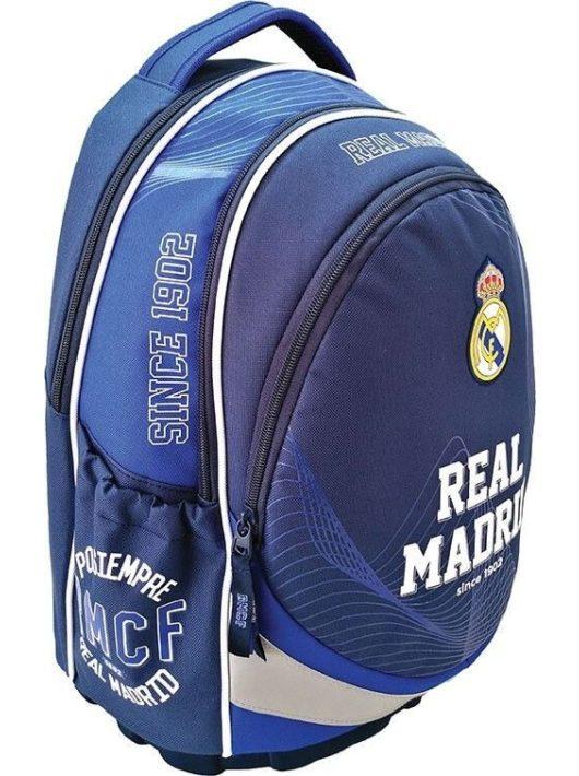 Real Madrid ergonómikus hátizsák, iskolatáska 43x31x17cm, kék