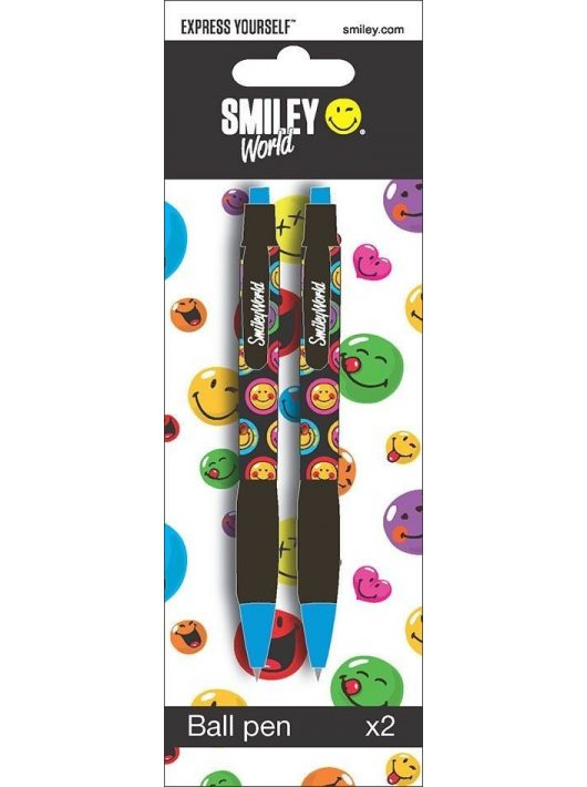 Smiley, emoji golyóstoll, 2 db-os