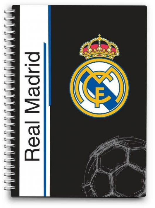 Real Madrid notesz, spirál A/6 80 lap