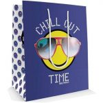 Smiley, emoji ajándéktáska, 23x18x10cm, közepes