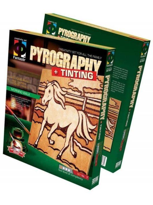Pirográfia, fakép szinező szett, Ló, 7+