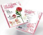 Papírvirág készítő kreatív szett, Piros rózsa
