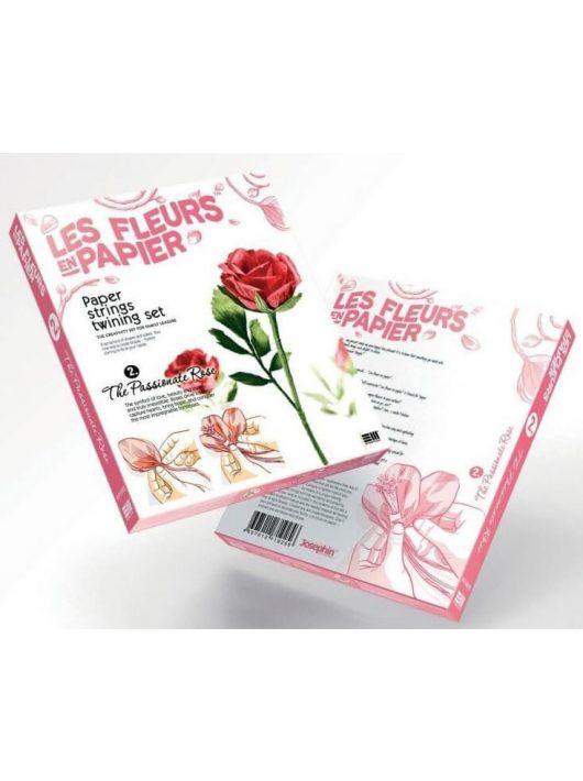 Papírvirág készítő kreatív szett, Piros rózsa, 8+