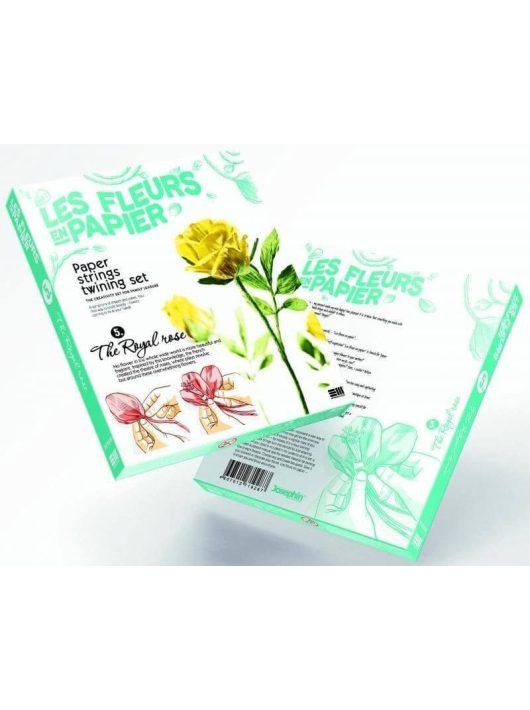 Papírvirág készítő kreatív szett, Sárga rózsa, 8+