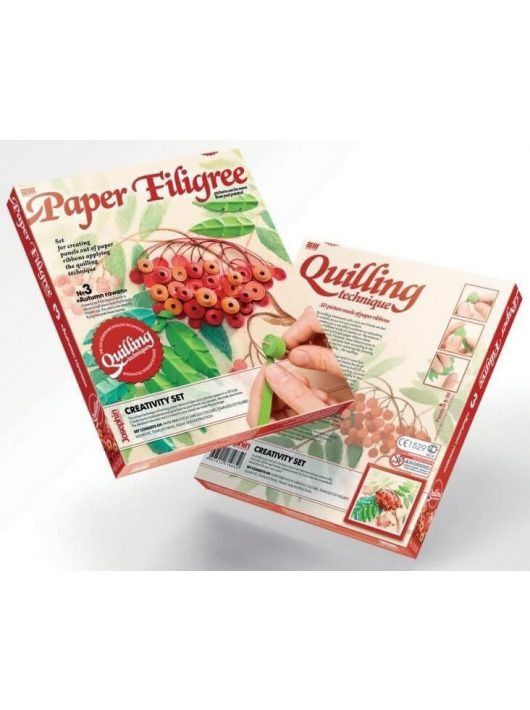 Quilling képkészítő szett, Vörös berkenyefa, 8+