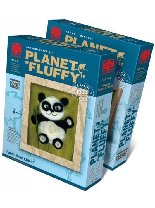Gyapjúkép készítő szett, Panda, 9+
