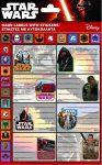Star Wars füzetcímke 8db/ív plusz matricákkal