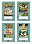 Erdőlakók füzet A/5 40lap kockás, design by Róth Anikó, többféle minta