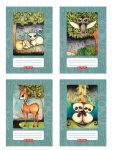 Erdőlakók füzet A/5 40lap vonalas 2.oszt. (16-32), design by Róth Anikó, többféle minta