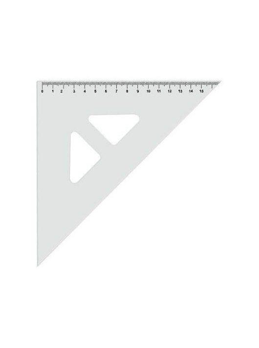 Háromszög vonalzó, 45°, átlátszó, Koh-I-Noor