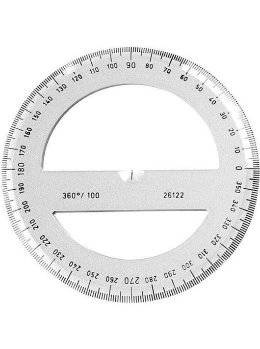 Szögmérő, 360°, átlátszó, Koh-I-Noor