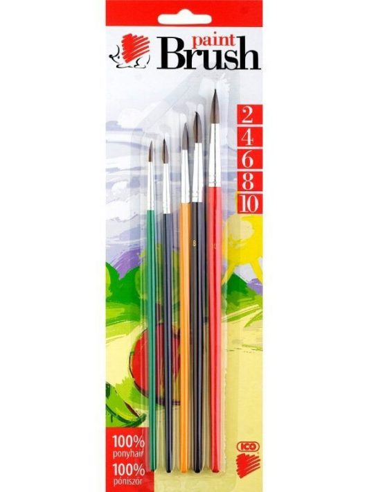 Ecset készlet, 5 db-os (2-4-6-8-10 méretűek), Süni