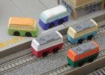 Radír, vonat és busz, vegyes, 1db