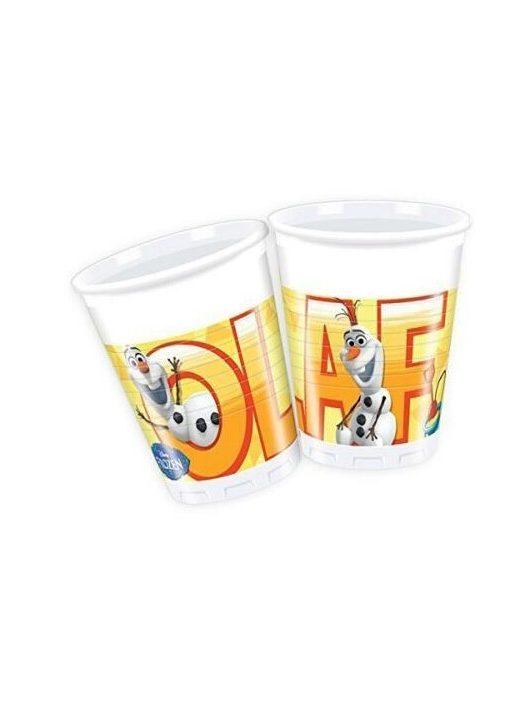 Jégvarázs műanyag pohár, Olaf, 200ml, 8 db/csomag