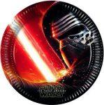 Star Wars papír tányér, Kylo Ren 23cm-es, 8db/cs