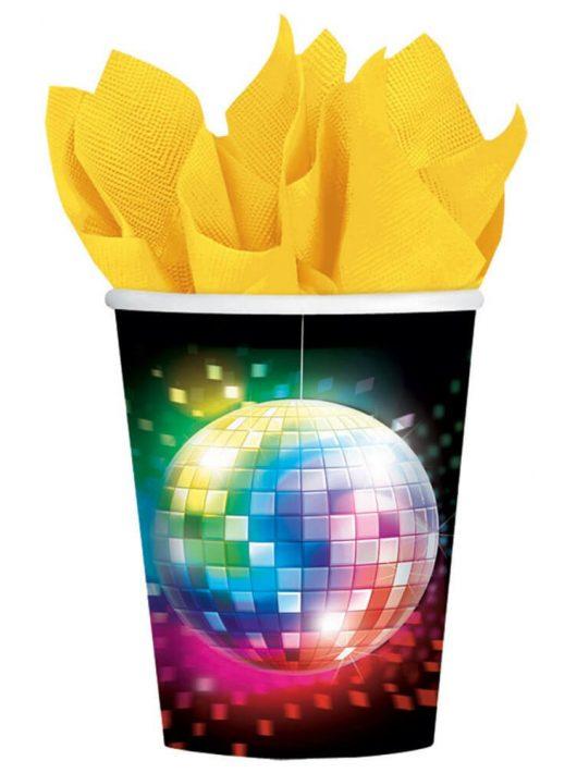 Disco Fever papír pohár, 266ml, 8 db/csomag