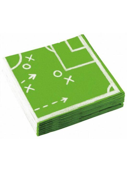 Focis mintás szalvéta, 20 db/csomag, zöld