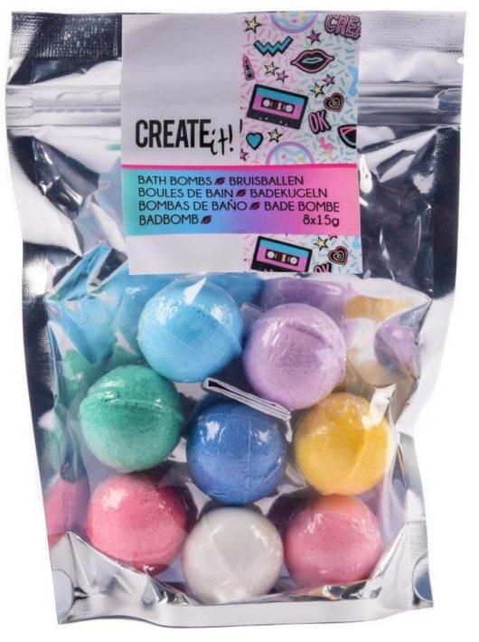 Fürdőgolyó 8 db-os szett, vegyes színek, 6+, Create it!