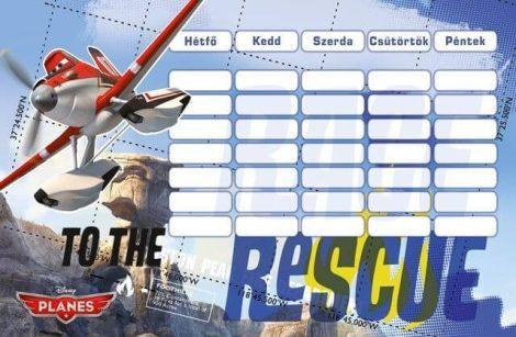 Repcsik órarend 175x115mm, kétoldalas, Planes Rescue