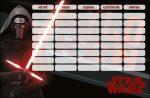 Star Wars órarend 175x115mm Kylo-Ren