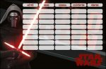 Star Wars órarend 175x115mm Kylo-Ren